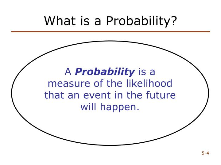What is a Probability?