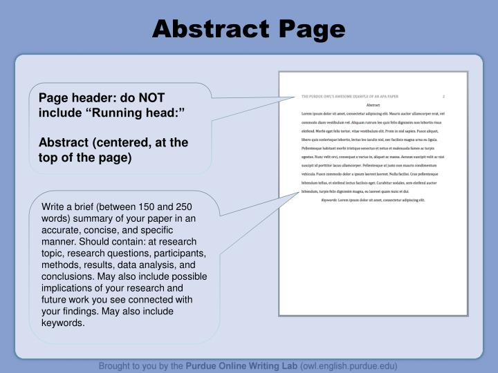 Abstract Page