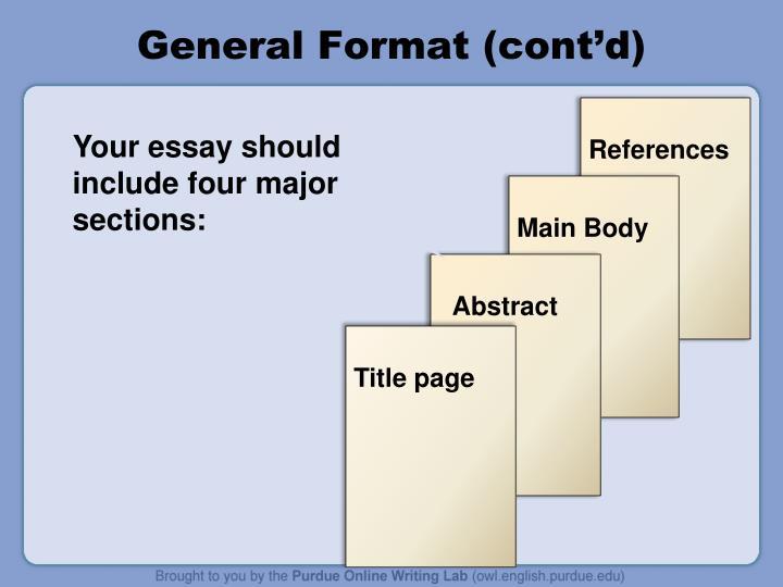General Format (cont'd)