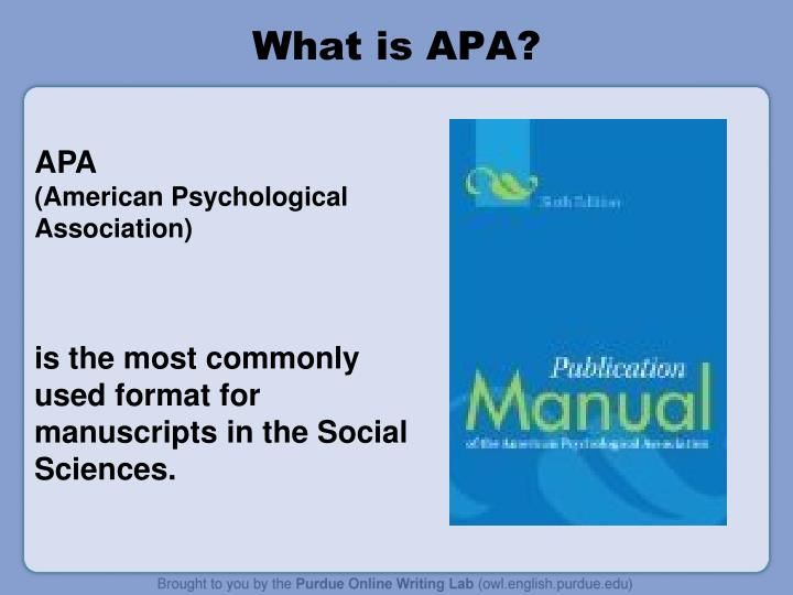 What is APA?