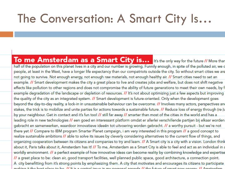The Conversation: A Smart City Is…