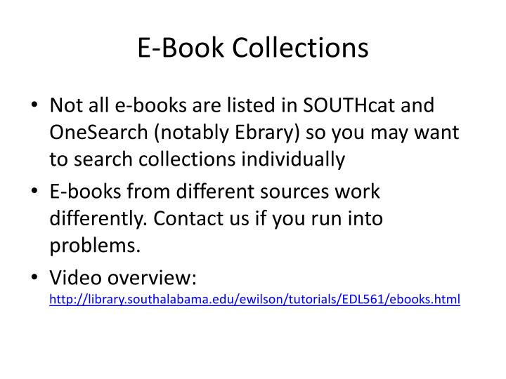 E-Book Collections