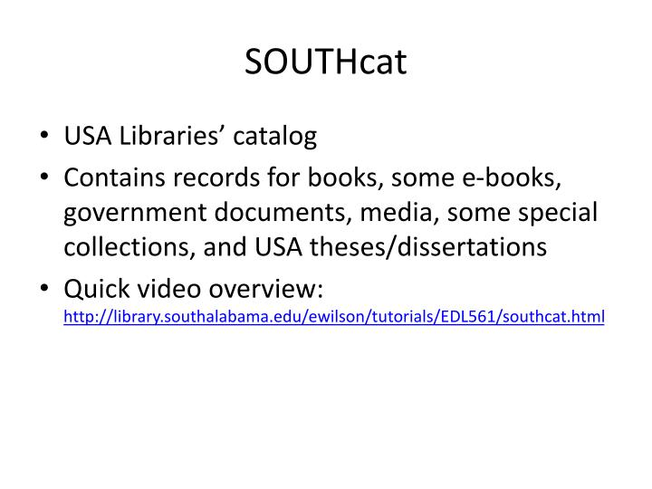 SOUTHcat