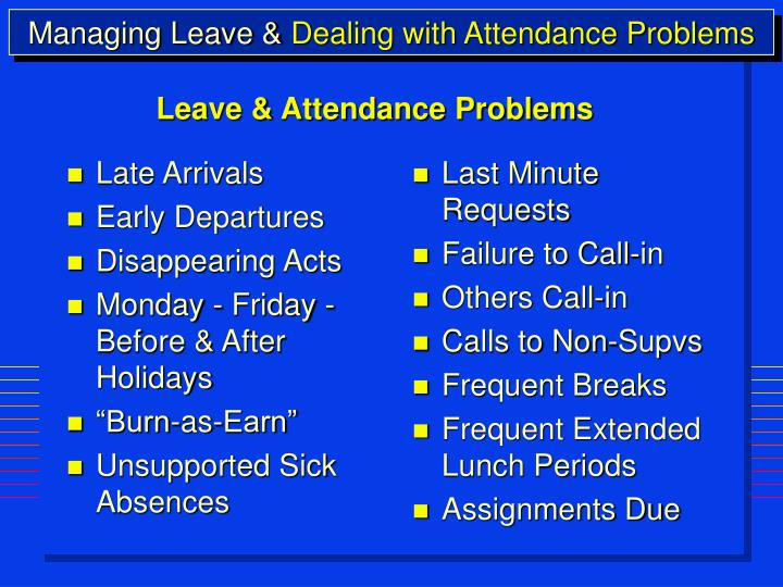 dealing with attendance issues Office in arizona and the truancy reduction demonstration program future problems and should not be for dealing with chronic absenteeism.