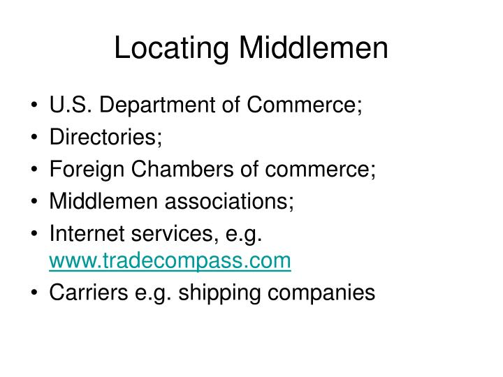 Locating Middlemen