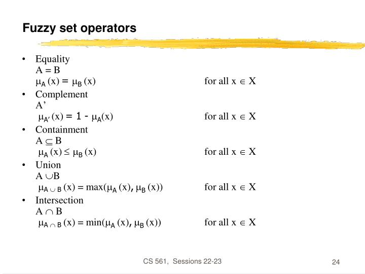 Fuzzy set operators