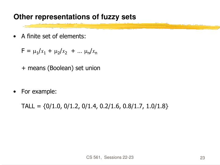 Other representations of fuzzy sets