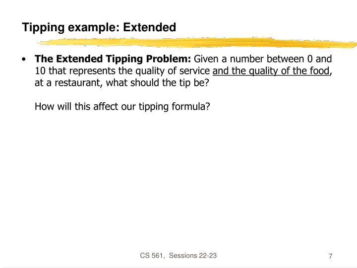 Tipping example: Extended