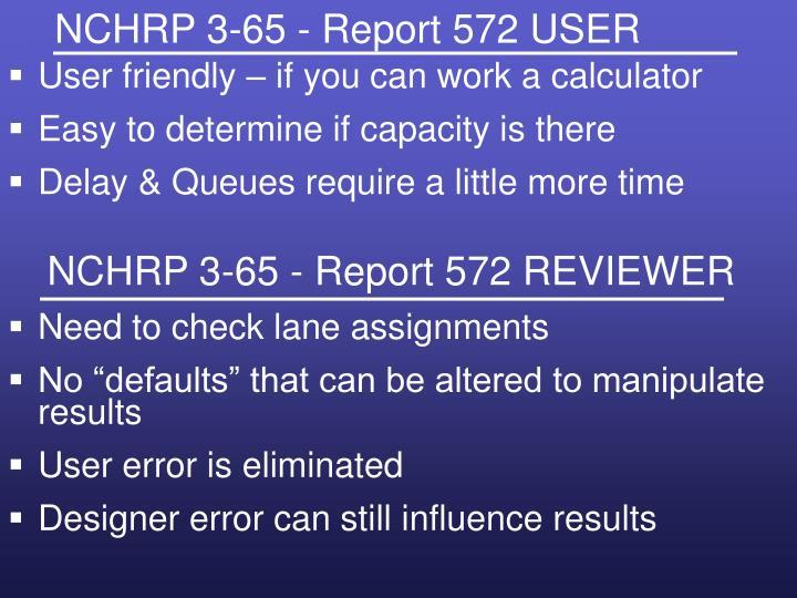 NCHRP 3-65 - Report 572 USER