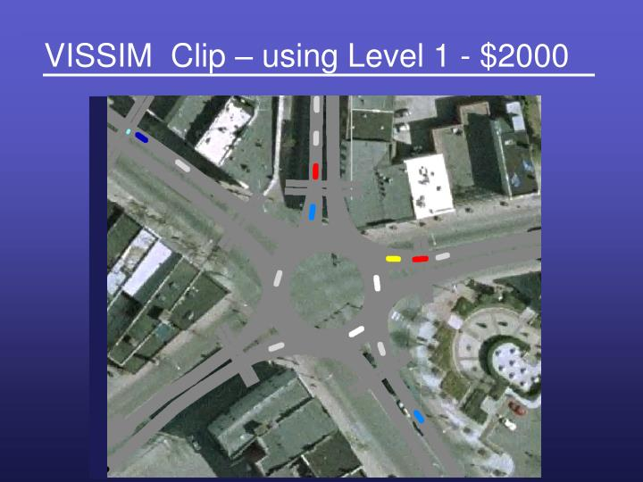 VISSIM  Clip – using Level 1 - $2000