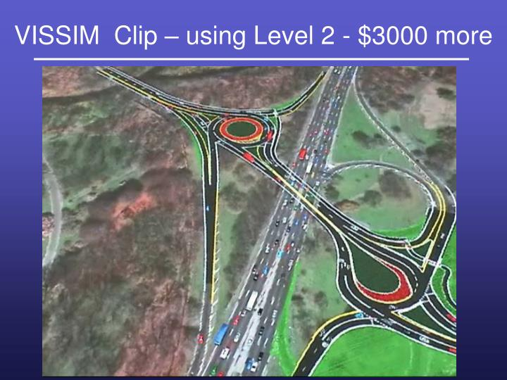 VISSIM  Clip – using Level 2 - $3000 more