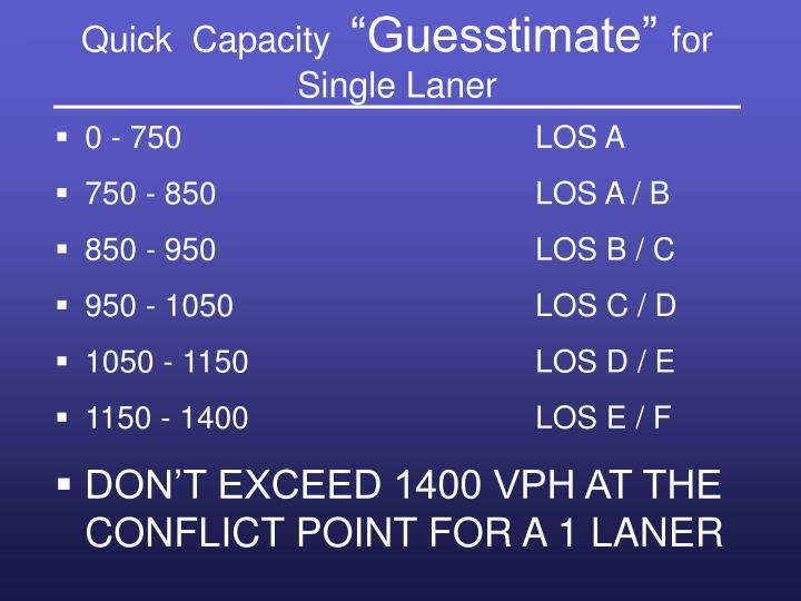 Quick  Capacity
