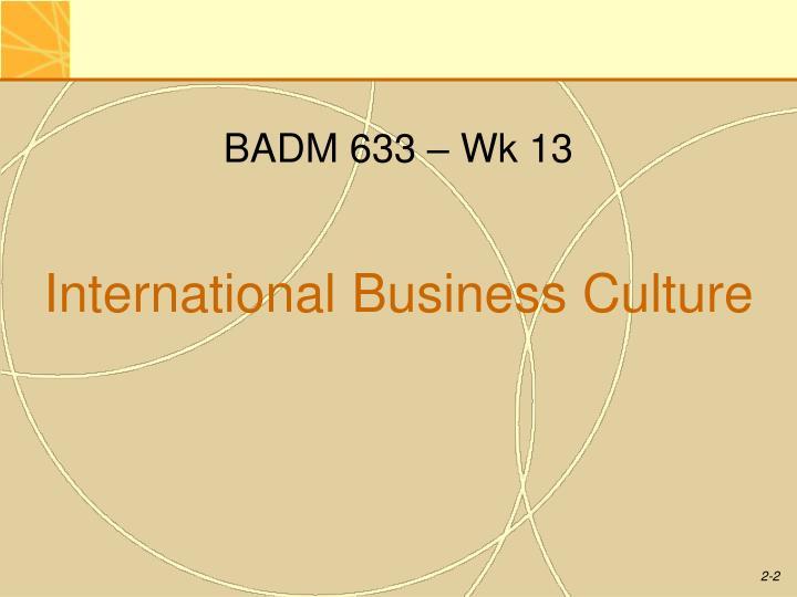 BADM 633 – Wk 13