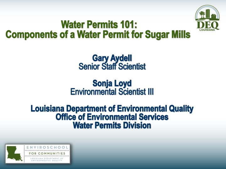 Water Permits 101: