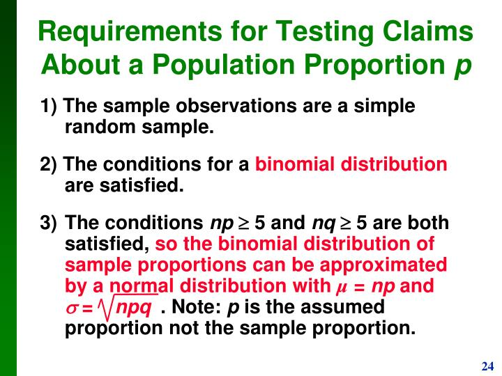 1) The sample observations are a simple random sample.