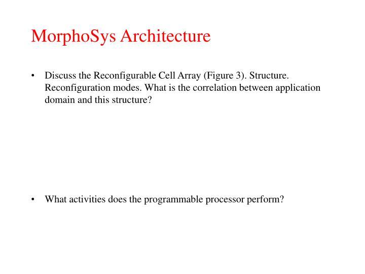 MorphoSys Architecture