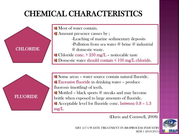 CHEMICAL CHARACTERISTICS
