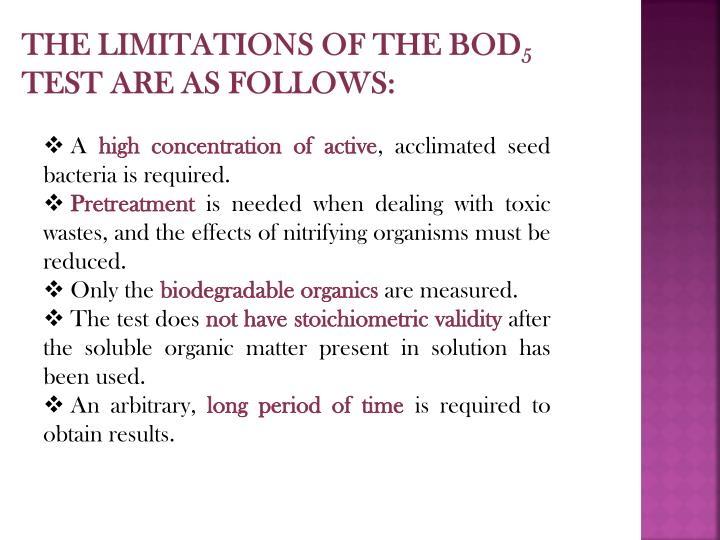 The limitations of the BOD