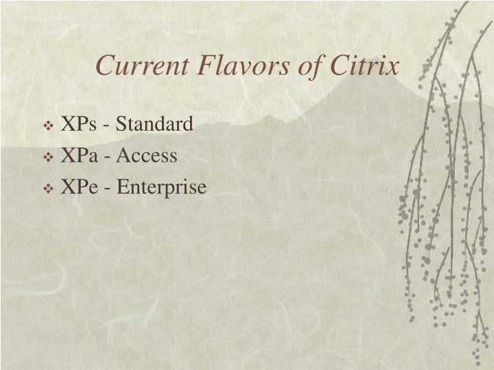 Current Flavors of Citrix
