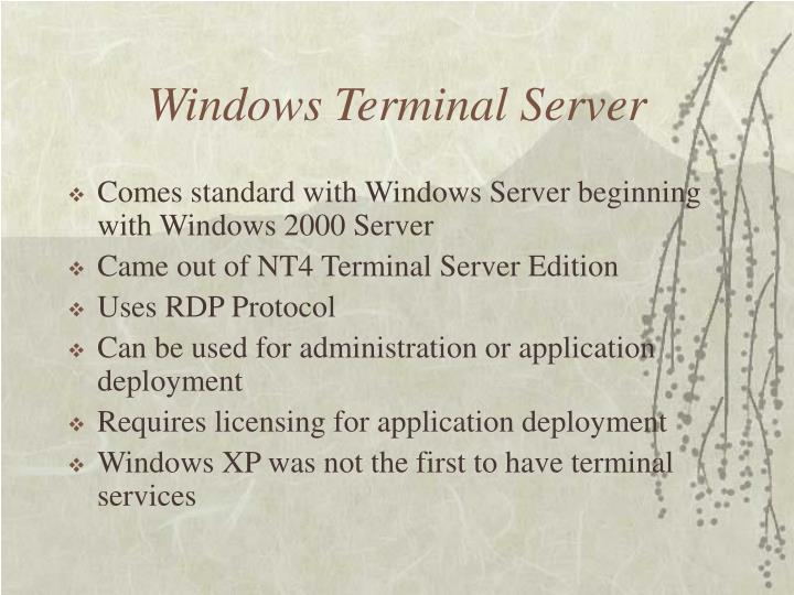 Windows Terminal Server