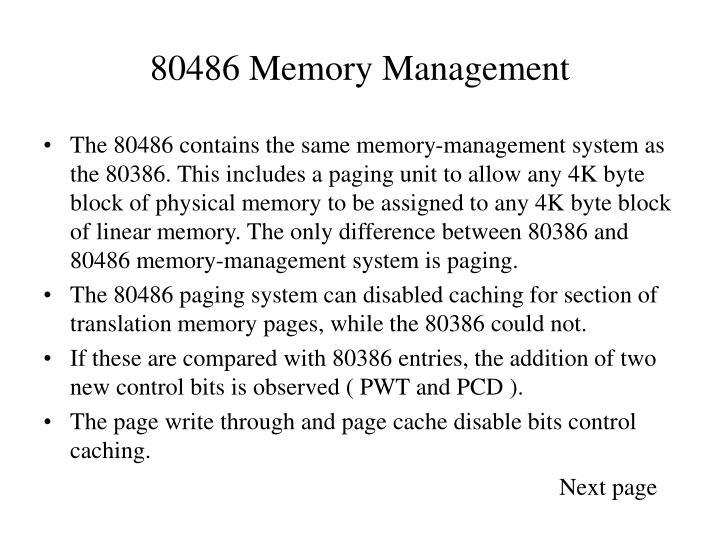 80486 Memory Management