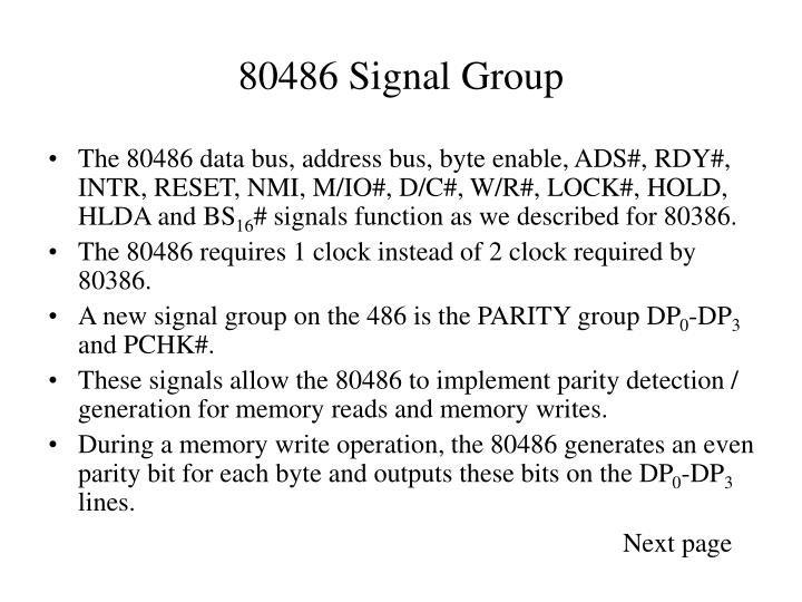 80486 Signal Group