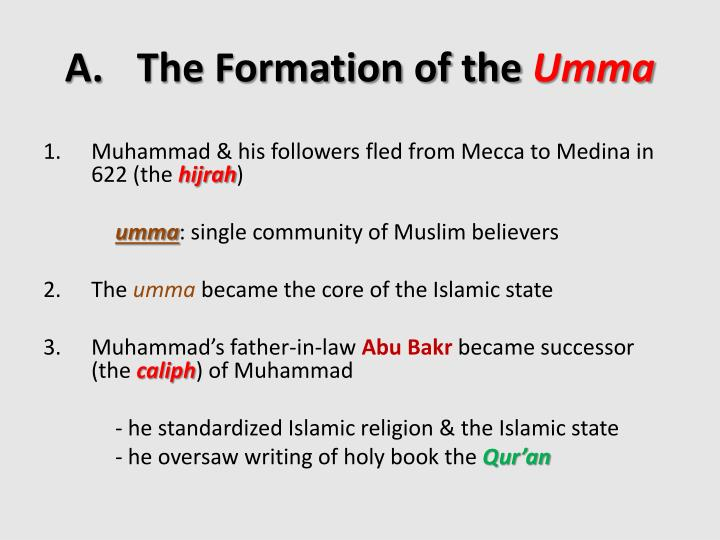 the formation of the umma essay An organization is a group of people who work together,  establishment, formation, organisation types: show 6 types  umma tameer-e-nau.