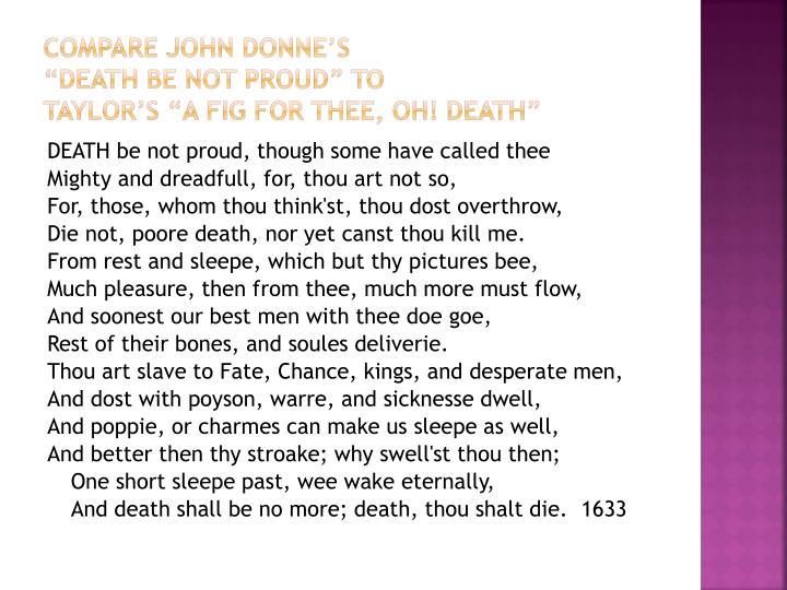 Compare John Donne's