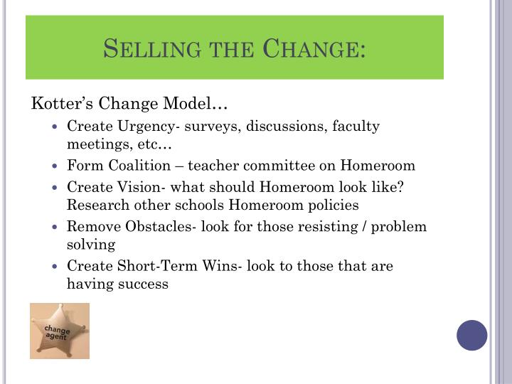 Selling the Change: