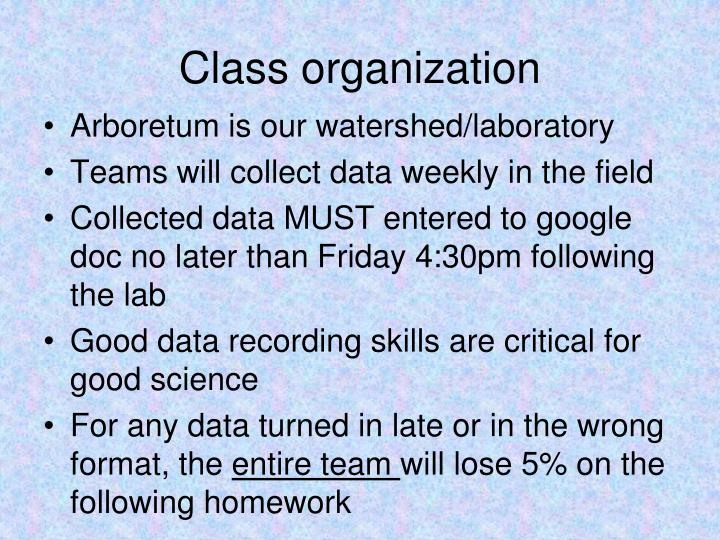 Class organization