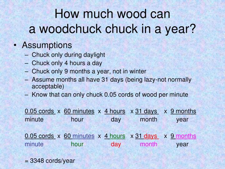 How much wood can