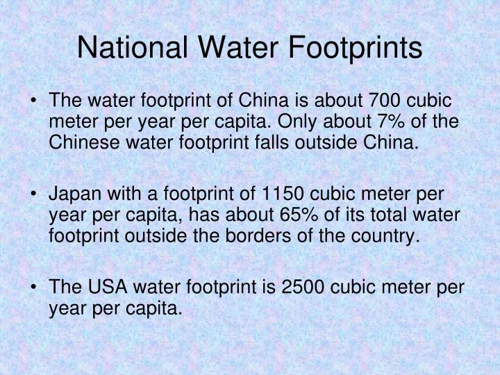 National Water Footprints