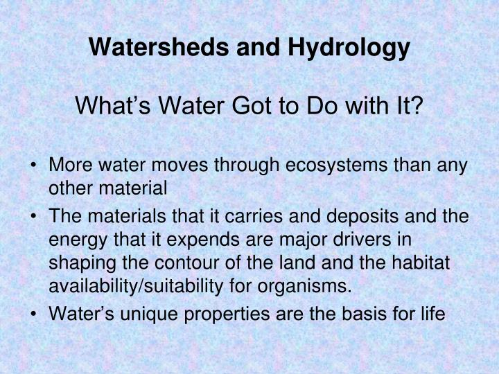 Watersheds and Hydrology