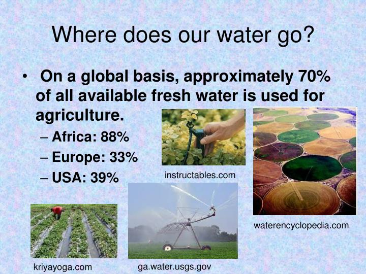 Where does our water go?