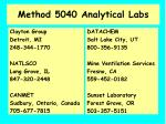 method 5040 analytical labs