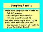 sampling results
