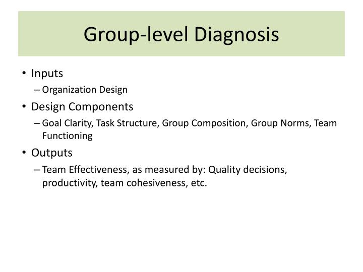 Group-level Diagnosis