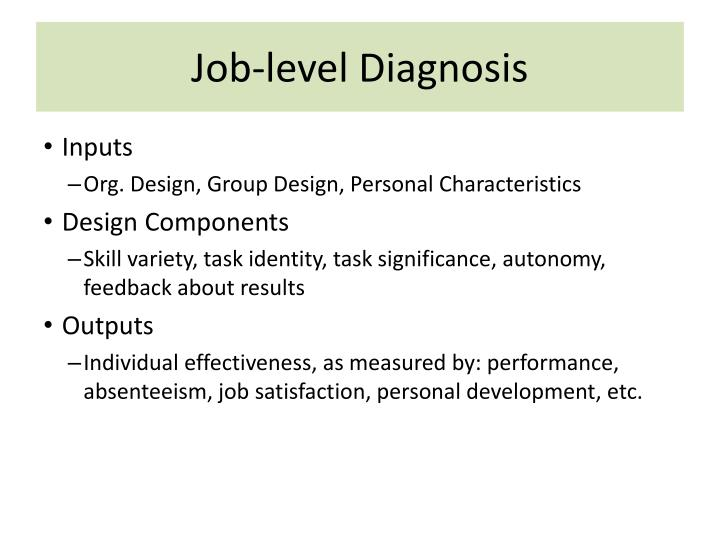 Job-level Diagnosis