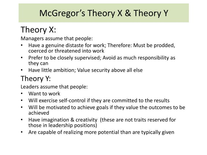 McGregor's Theory X & Theory Y