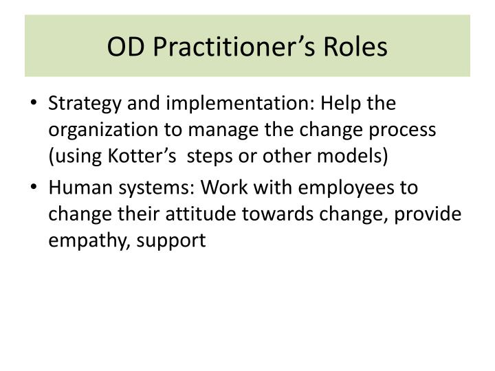 OD Practitioner's Roles
