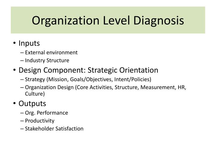 Organization Level Diagnosis