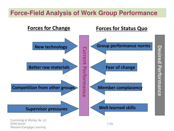 Force-Field Analysis of Work Group Performance