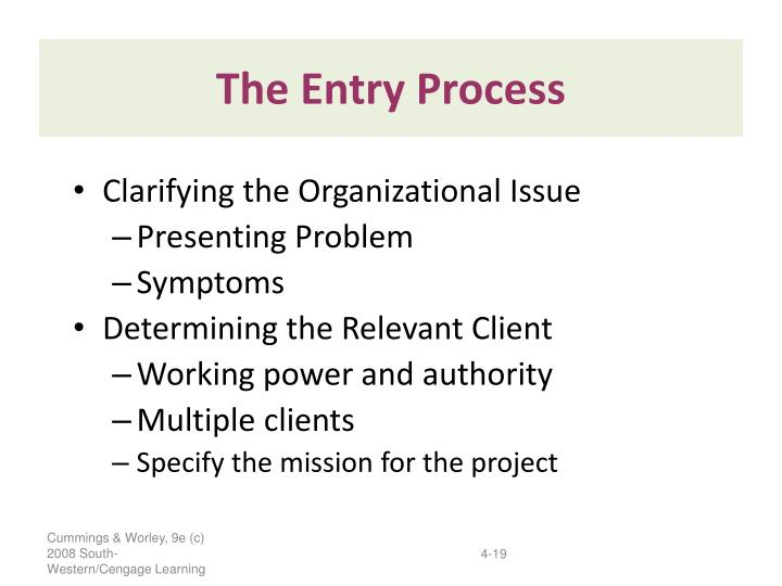 The Entry Process