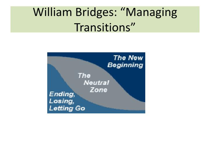 "William Bridges: ""Managing Transitions"""