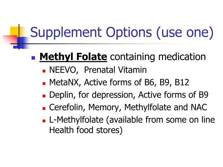 Supplement Options (use one)
