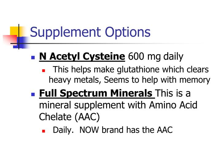 Supplement Options