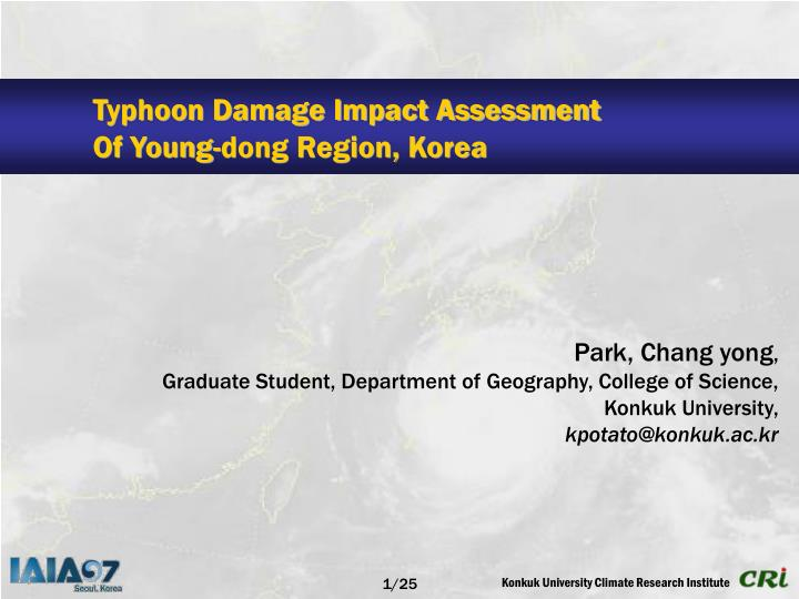 Typhoon Damage Impact Assessment