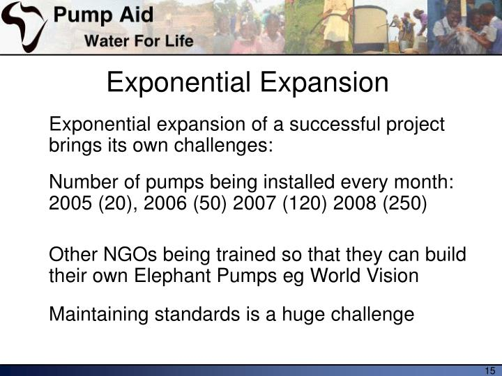 Exponential Expansion