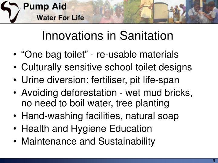 Innovations in Sanitation