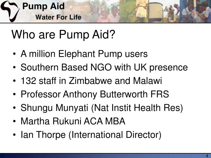 Who are Pump Aid?